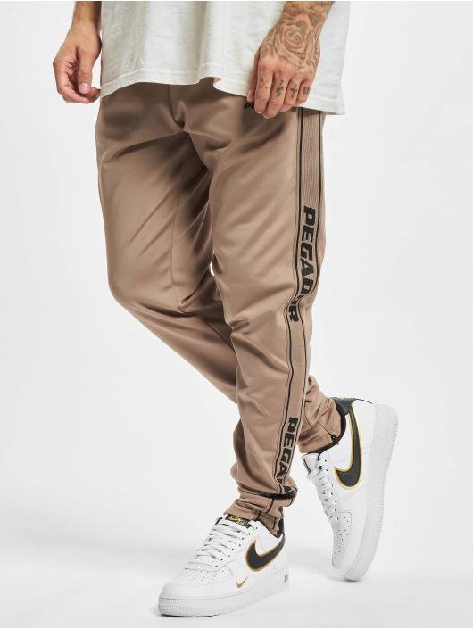 PEGADOR Jogging kalhoty Logo hnědý