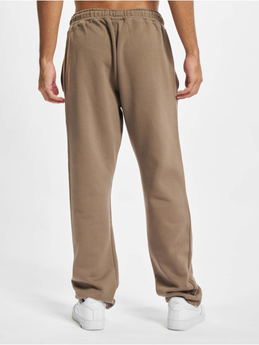 PEGADOR Jogging kalhoty Logo Wide hnědý