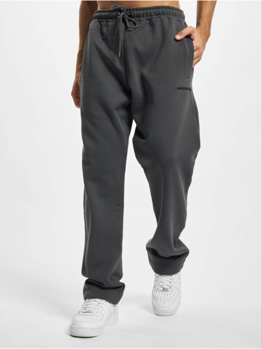 PEGADOR joggingbroek Logo Wide grijs