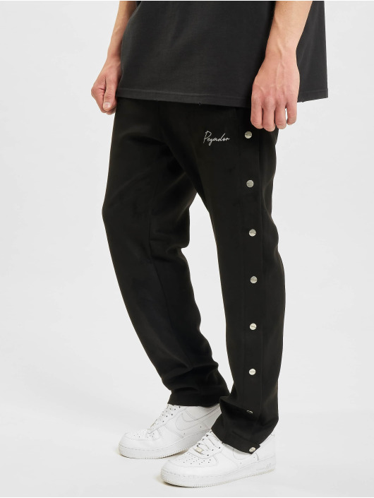 PEGADOR joggingbroek Suede Button zwart
