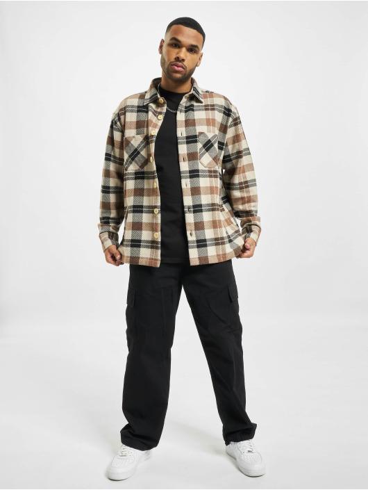 PEGADOR Košile Flato Heavy Flannel hnědý
