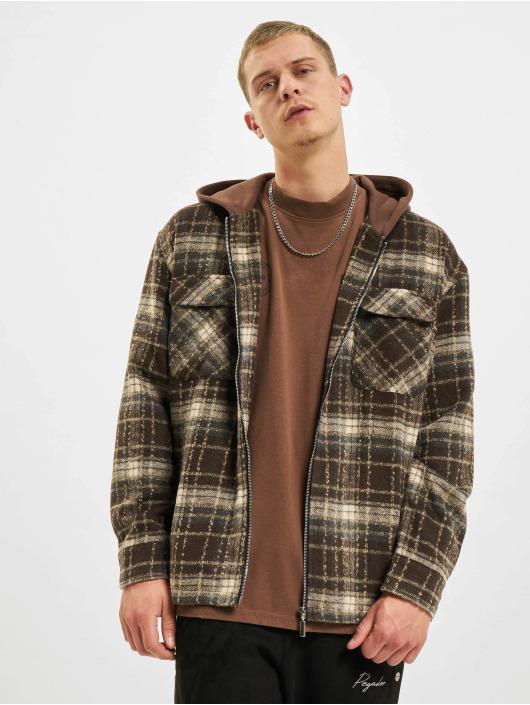 PEGADOR Overgangsjakker Fontana Hooded Zip Hairy Flannel brun