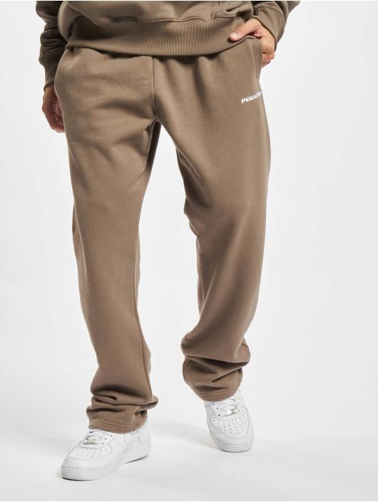 PEGADOR Pantalone ginnico Logo Wide marrone