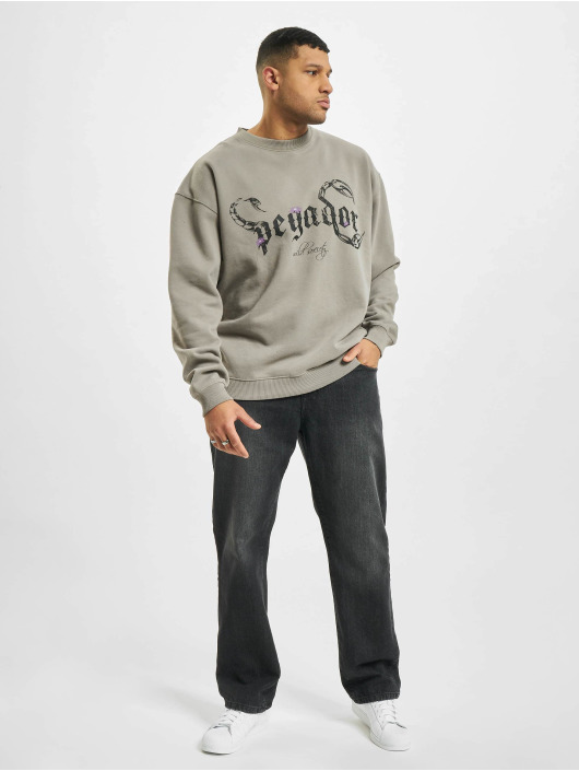PEGADOR Pullover Deadwood Oversized grau