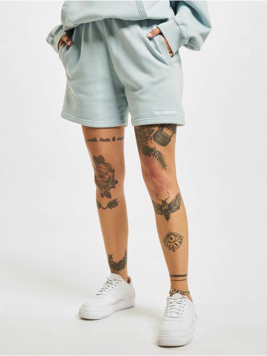 PEGADOR Shorts Faith High Waisted blau
