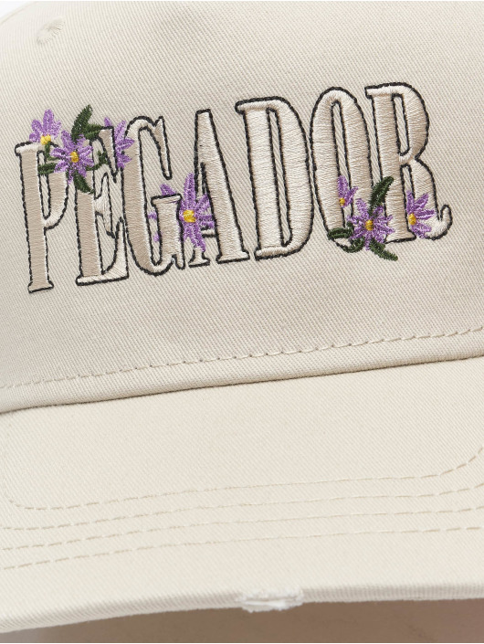 PEGADOR Snapback Cap Embroidery Destroyed beige