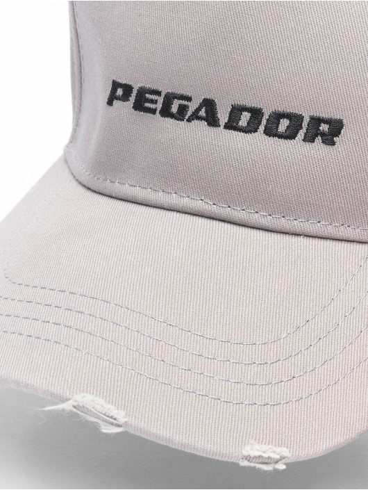 PEGADOR Snapback Cap Reo Destroyed gray