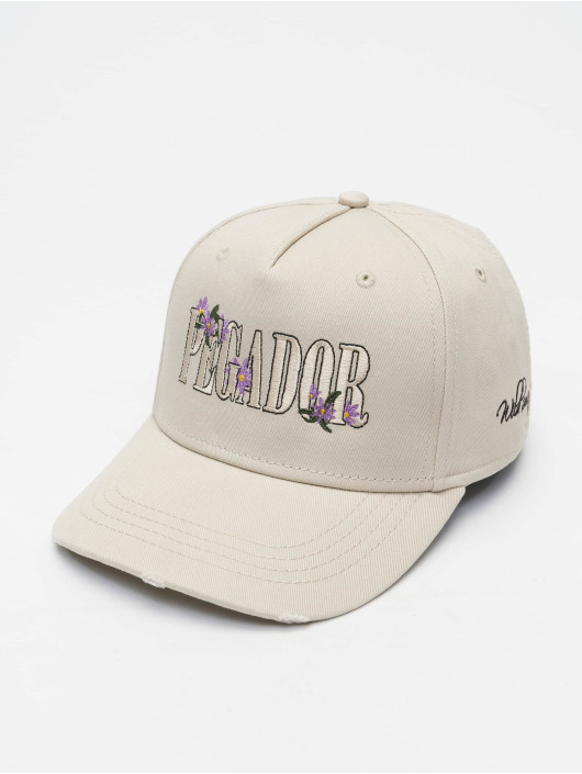 PEGADOR Snapback Caps Embroidery Destroyed bezowy