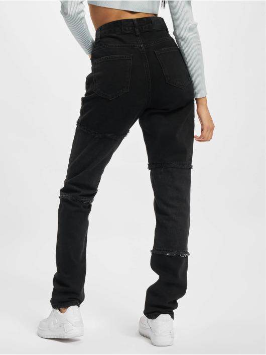 PEGADOR Straight Fit Jeans Lodi Wide Patchwork čern