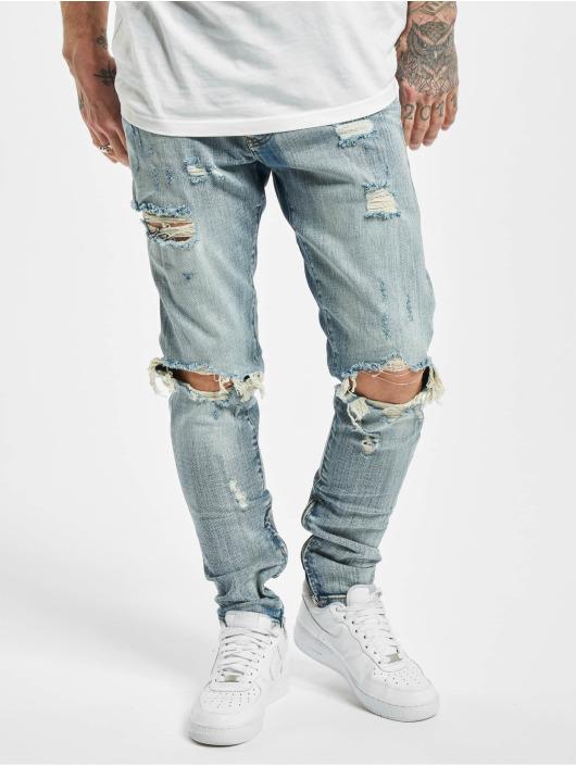 PEGADOR Straight Fit Jeans Mitu Distressed Vintage blau