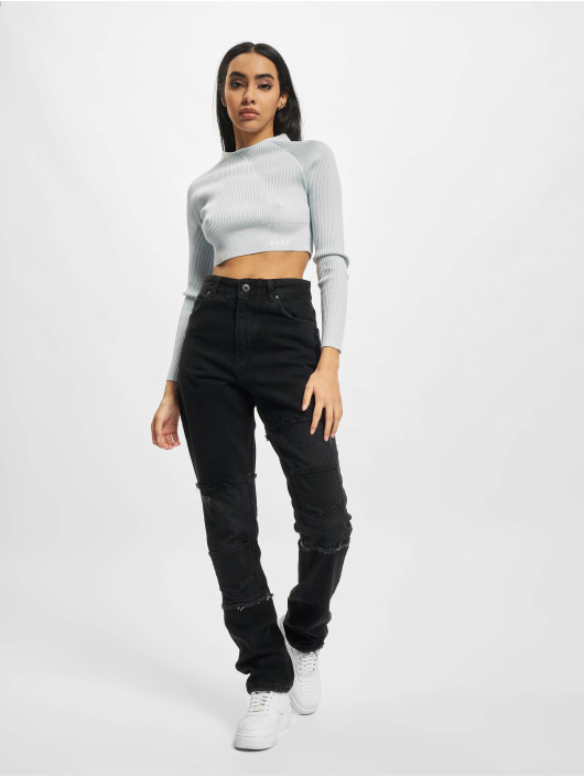 PEGADOR Straight Fit Jeans Lodi Wide Patchwork svart