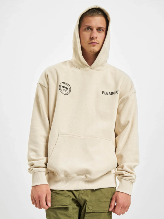 PEGADOR Sweat capuche Mike Oversized Vintage beige