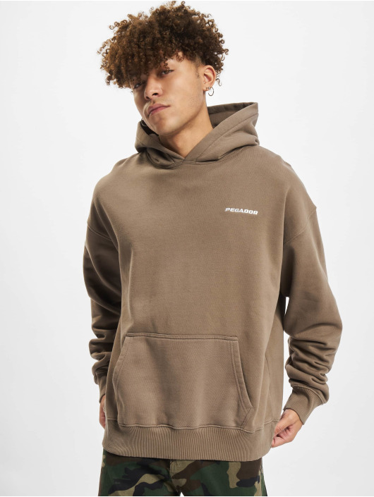 PEGADOR Sweat capuche Logo Oversized brun