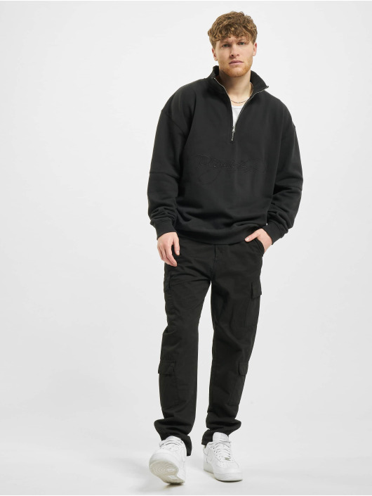 PEGADOR Swetry Arizona Halfzip Oversized czarny