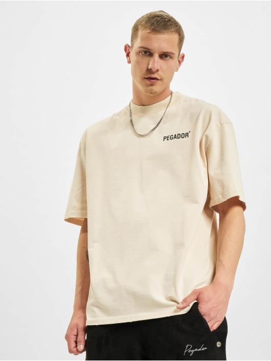 PEGADOR T-paidat Manny Oversized Vintage beige