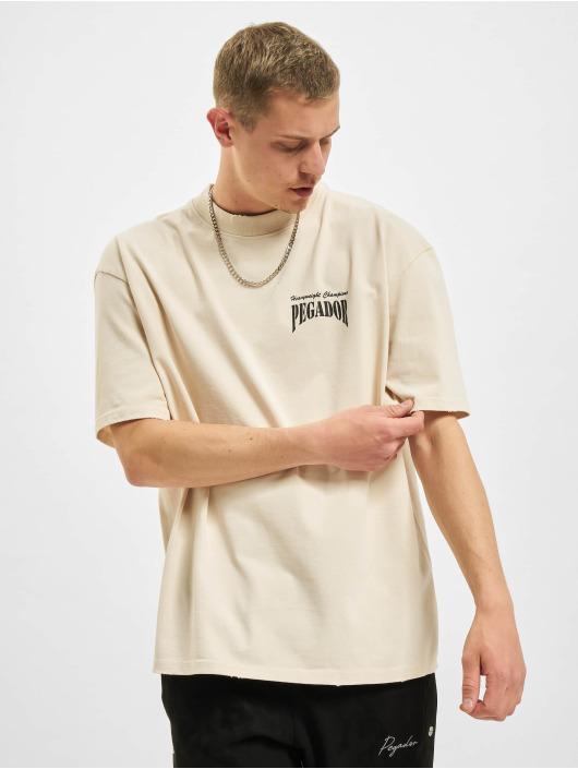 PEGADOR T-Shirt Evander Oversized Vintage beige
