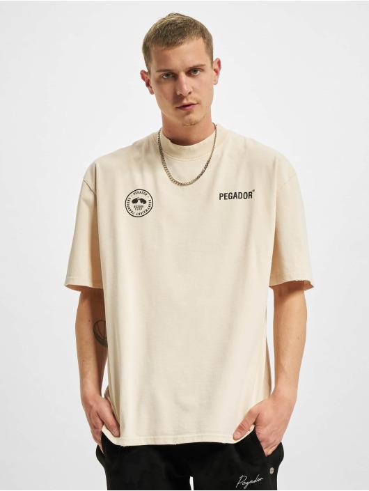 PEGADOR T-shirt Mike Oversized Vintage beige