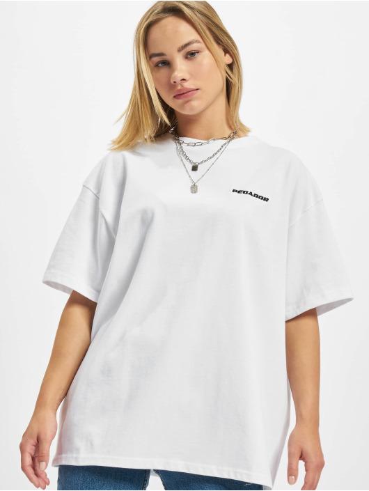PEGADOR T-shirt Beverly Logo Oversized bianco