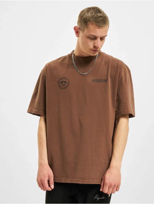PEGADOR t-shirt Mike Oversized Vintage bruin