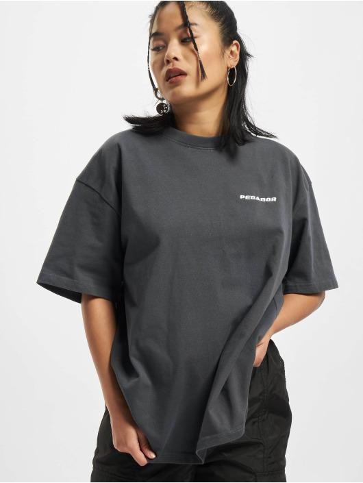 PEGADOR T-shirt Beverly Logo Oversized grigio