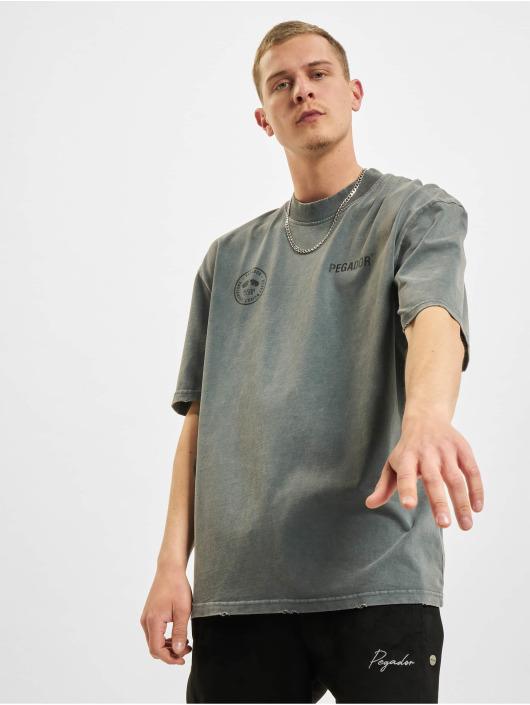 PEGADOR T-Shirt Mike Oversized Vintage gris