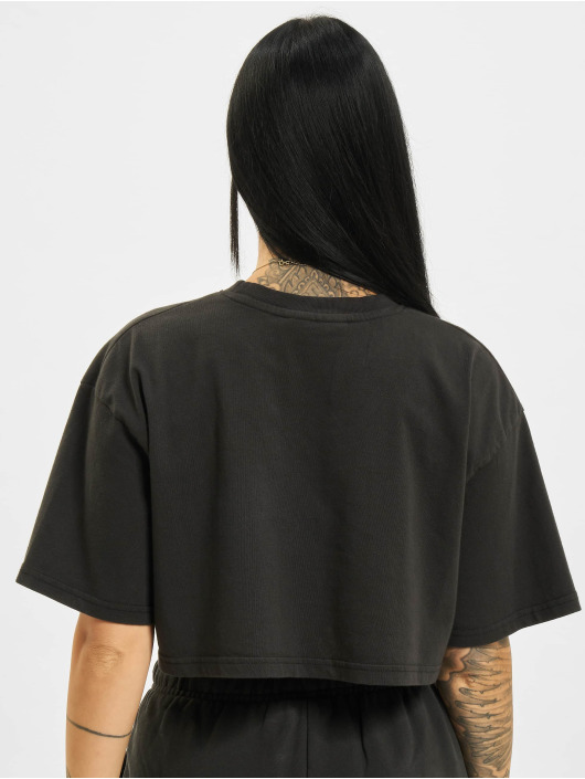PEGADOR T-Shirt Layla Oversized Cropped noir
