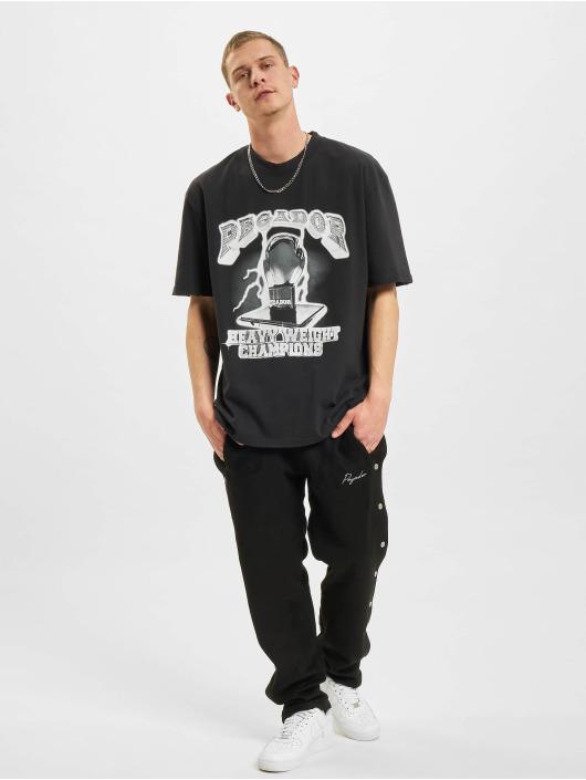 PEGADOR T-shirt Cassius Oversized Vintage svart