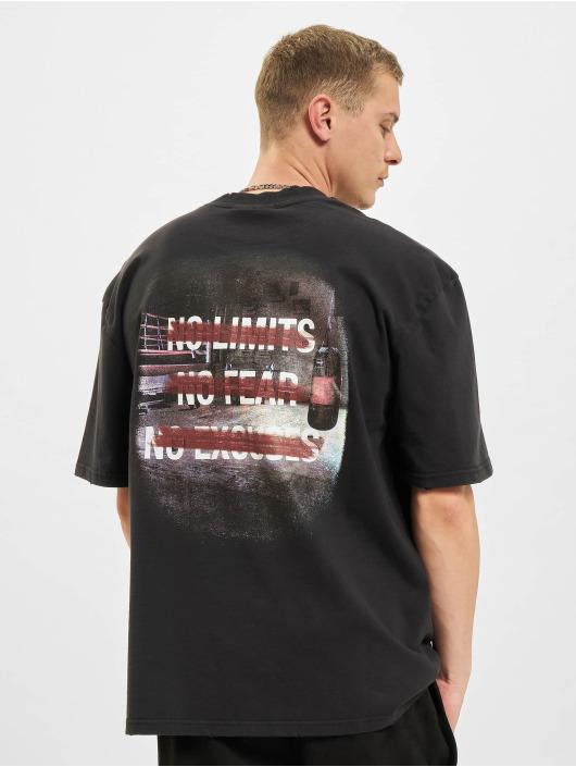 PEGADOR T-shirt Manny Oversized Vintage svart