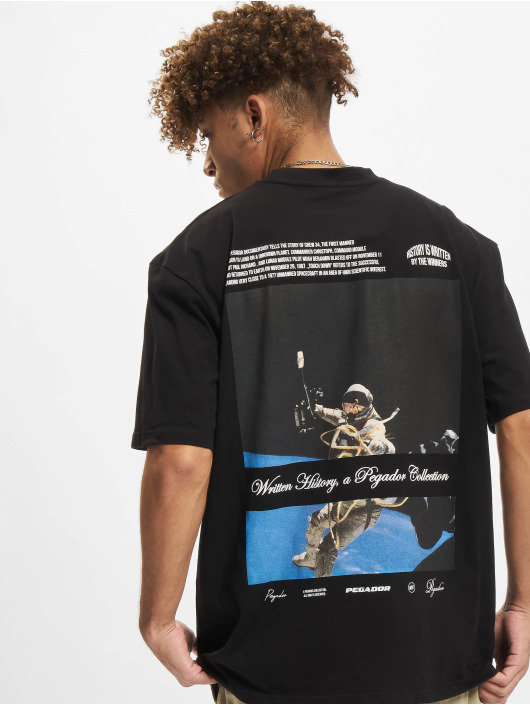 PEGADOR T-shirt History Oversized svart