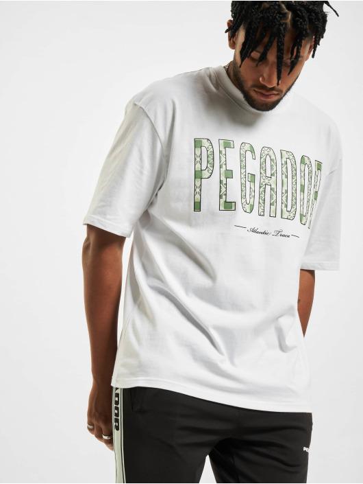 PEGADOR T-Shirt Mosaic Oversized weiß