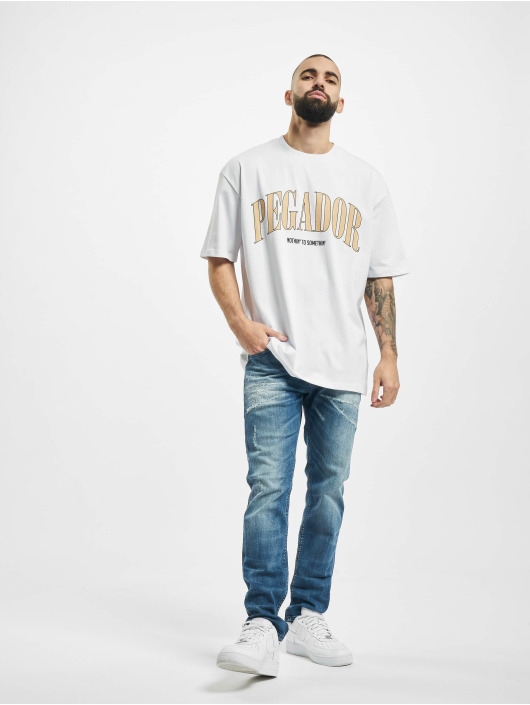 PEGADOR T-Shirt Cali Oversized white
