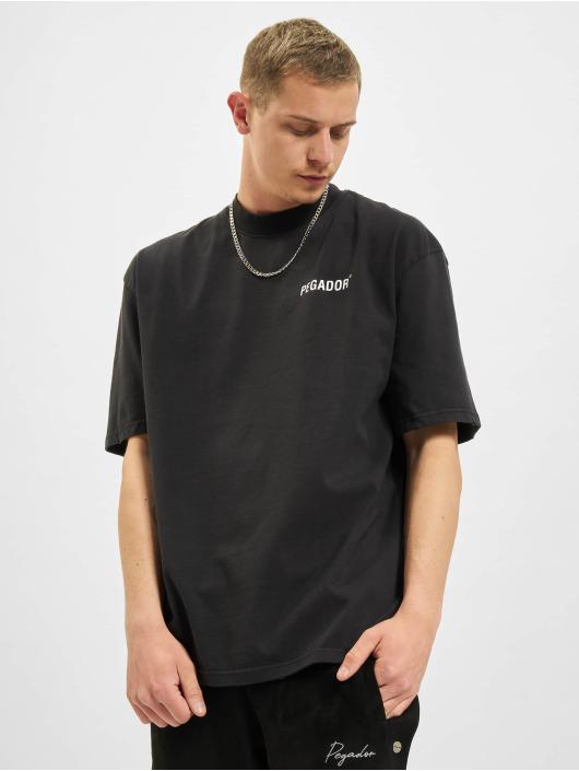 PEGADOR t-shirt Manny Oversized Vintage zwart