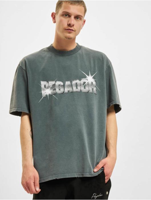 PEGADOR T-shirts George Oversized Vintage grå