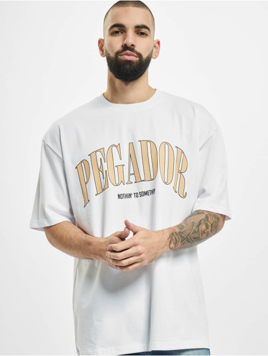 PEGADOR T-Shirty Cali Oversized bialy