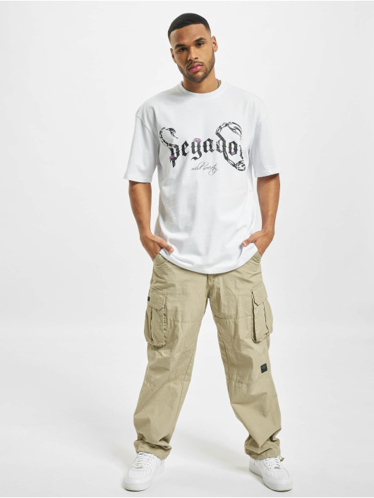 PEGADOR T-Shirty Deadwood Oversized bialy
