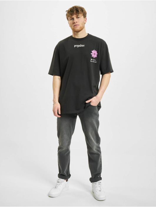 PEGADOR T-Shirty Dakota Oversized czarny