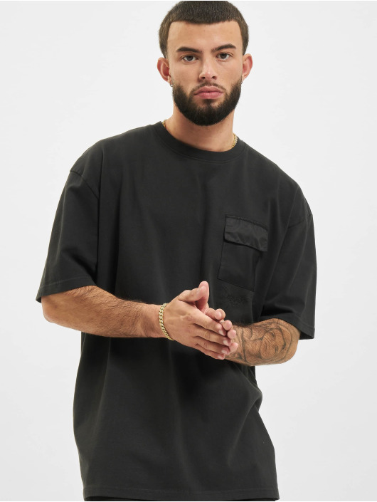 PEGADOR T-Shirty Ghosttown Utility Washed czarny