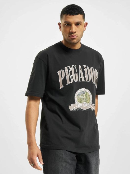 PEGADOR T-Shirty Utah Oversized Washed czarny