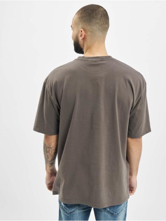 PEGADOR T-Shirty Oversized Washed szary