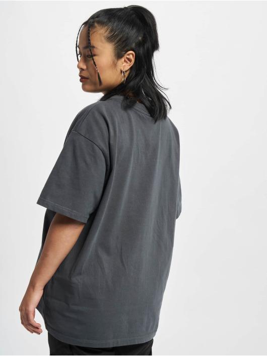 PEGADOR T-Shirty Beverly Logo Oversized szary