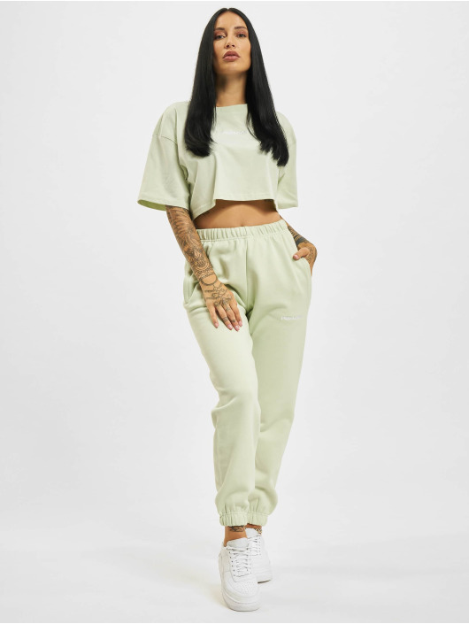 PEGADOR T-Shirty Layla Oversized Cropped zielony