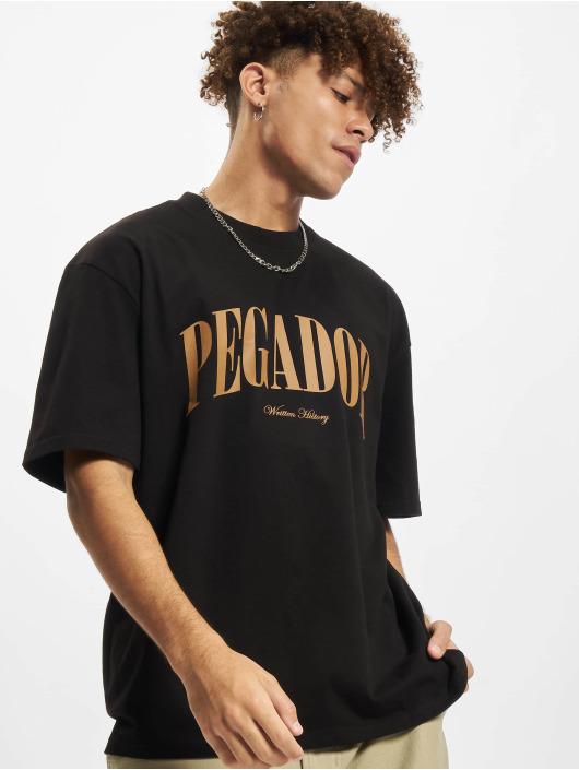PEGADOR T-Shirty Cali Oversized zólty