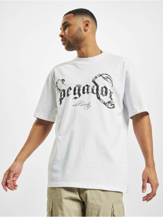 PEGADOR Tričká Deadwood Oversized biela