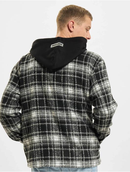 PEGADOR Veste mi-saison légère Fontana Hooded Zip Hairy Flannel noir