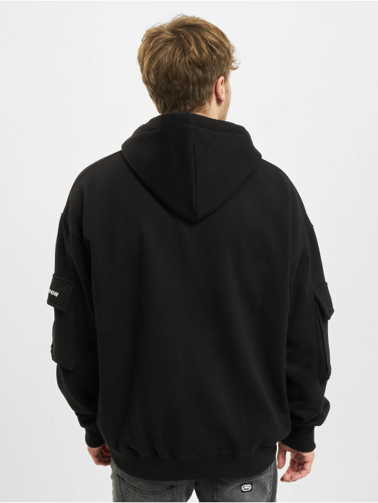 PEGADOR Zip Hoodie Colorado Utility Oversized czarny