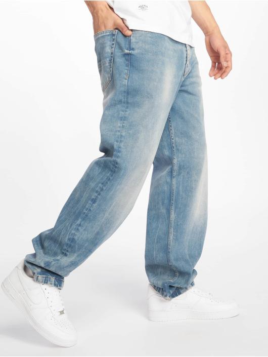 Pelle Pelle Baggy jeans Double P Denim blå