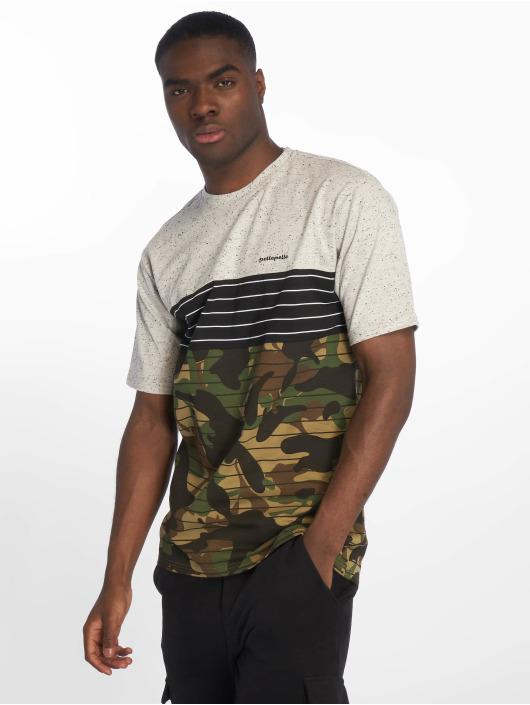 Pelle Pelle Camiseta Camo gris