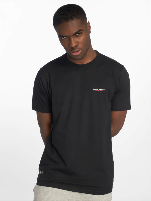 Pelle Pelle Camiseta Double Take negro