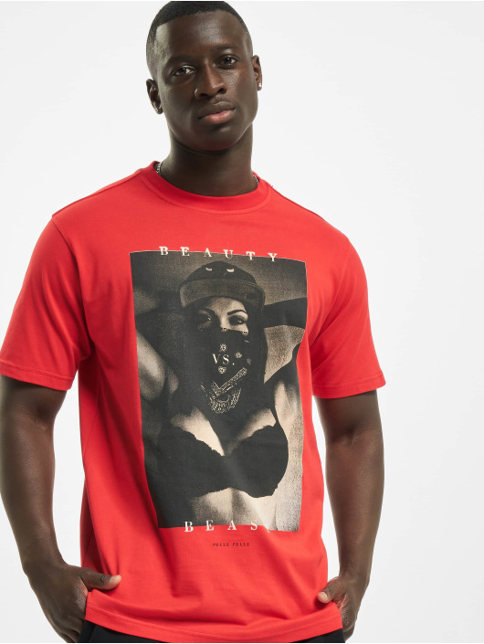 Pelle Pelle Camiseta Beauty Vs. Beast rojo