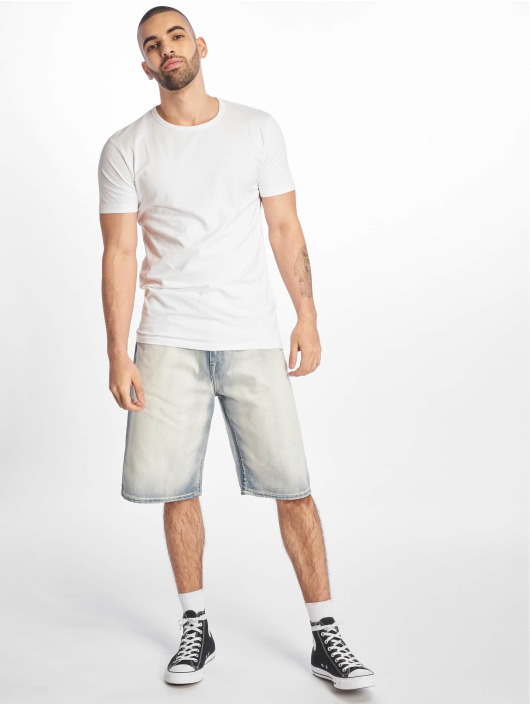 Pelle Pelle Short Buster Baggy Denim white